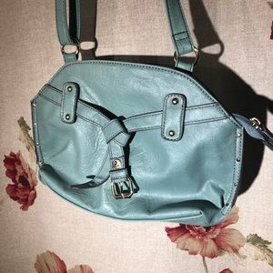plum Bags - Plum light blue purse